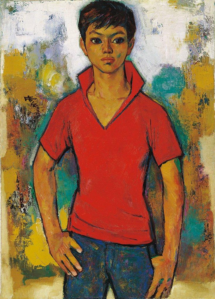 席德進〈紅衣少年〉1962 油彩、畫布 90×64.5 cm