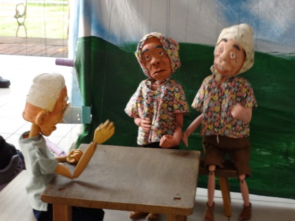Handcrafted puppets made by the Smiling Granny Marionette Performance Group.