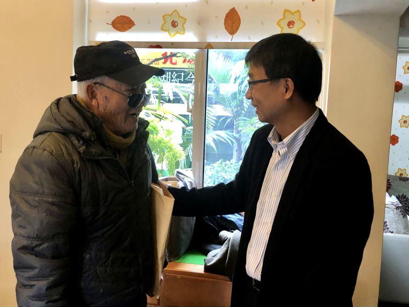 1100106拜會李志元前輩#雲林北港-人權館館長陳俊宏(右)與李志元前輩問候