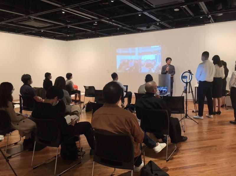 日本展覽現場田中浩也教授致詞