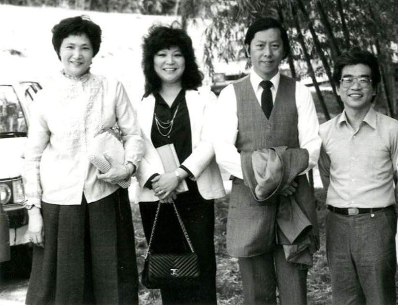邱玉蘭(左二)、馬水龍(右二)、徐頌仁(右一)等音樂家都曾與上揚唱片長期密切合作(左一為張碧女士)(照片取自於臺灣音樂群像資料庫)