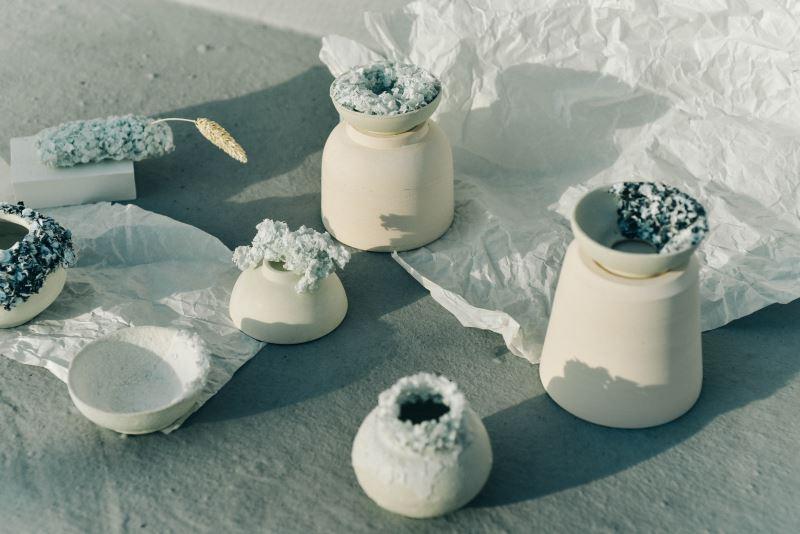 陶瓷設計師家林珮汝將魚鱗窯燒後呈現出新的風貌