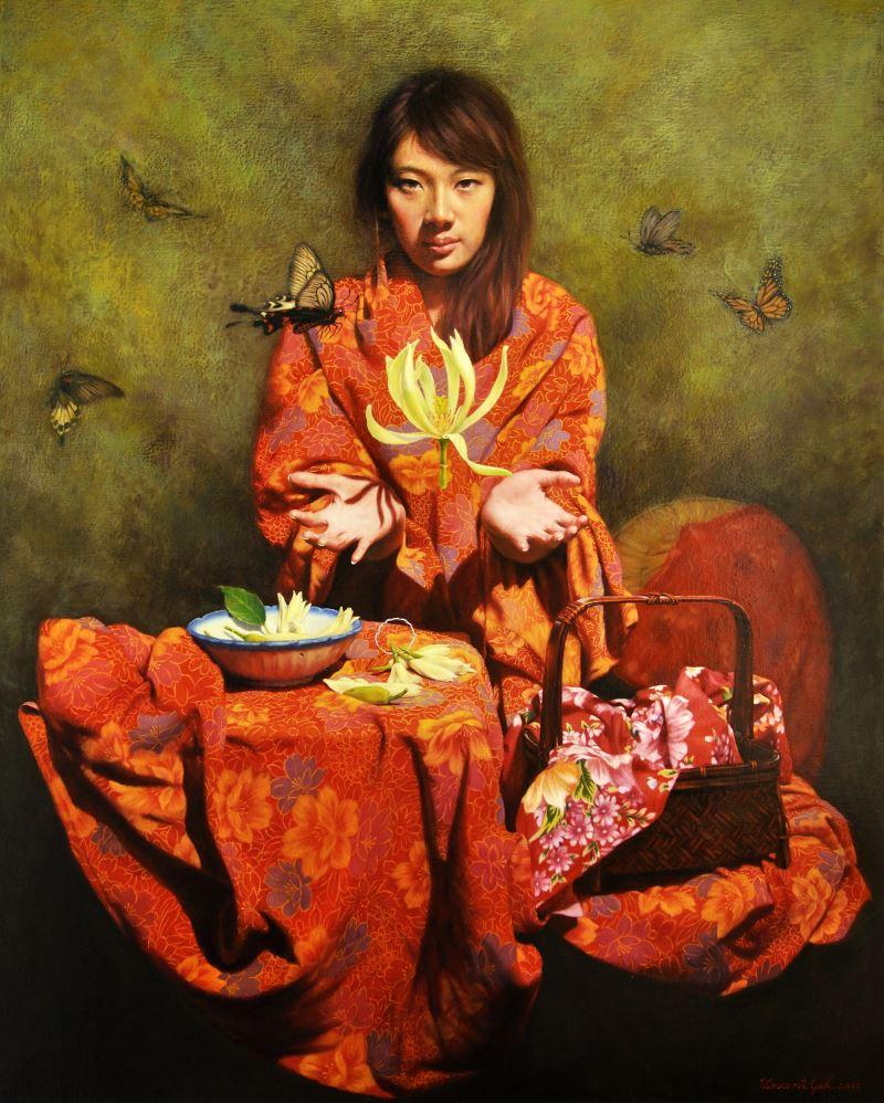 "First-prize winner Yeh Tien-sheng's ""Taiwan Yulan"" (葉天生《台灣玉蘭花》)"