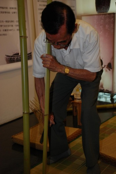 According to the master weaver, the hardest part of the entire process is splitting the bamboo.