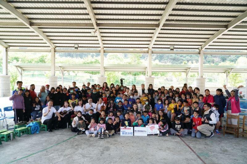 萌芽之旅於臺東縣初來國小新武分校大合照。
