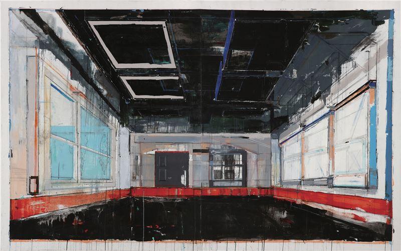 陳建榮〈Landscape 64〉2011 壓克力顏料、畫布、複合媒材 162×260 cm