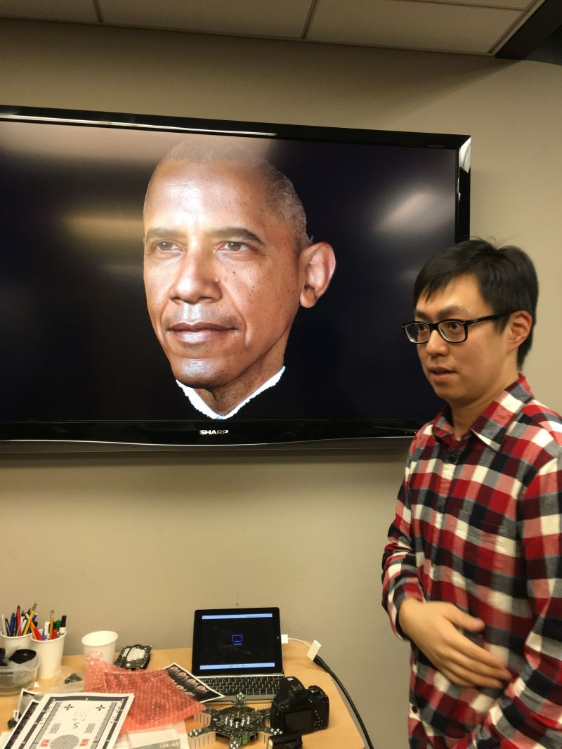 The facial capture technology was used in this portrait of US President Barack Obama.