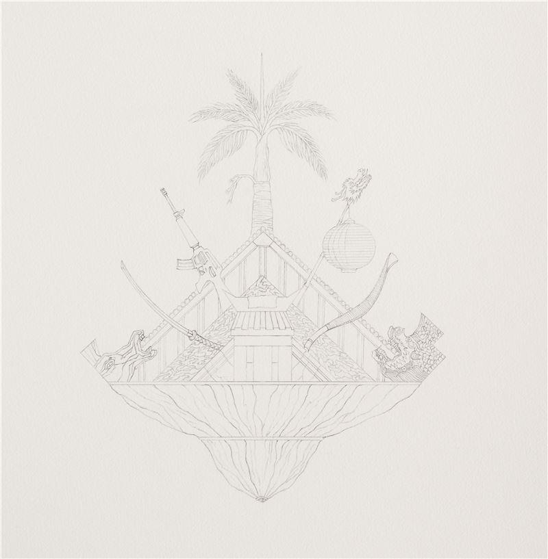 饒加恩〈30紋徽提案〉展出局部圖