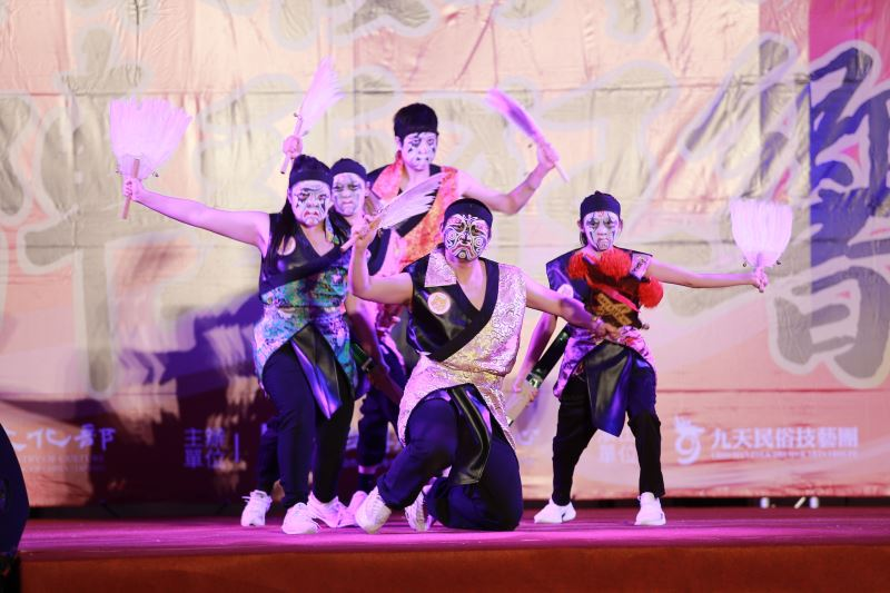 「鐵四帝文化藝術創意舞蹈團」結合傳統家將及創新街舞,詮釋不同的八家將藝術之美