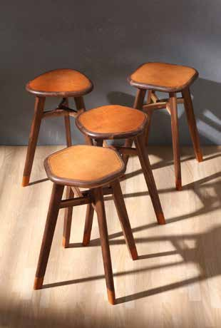 Work completed at a woodworking symposium, Wooden Stool