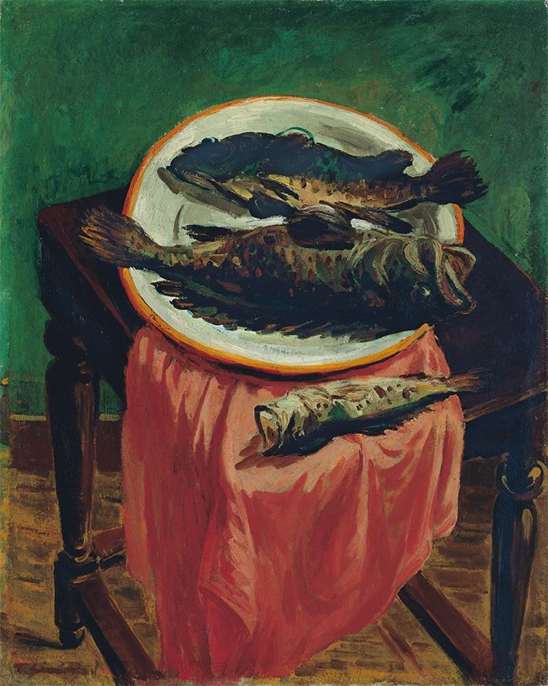 林天瑞〈魚〉1954  油彩、畫布  91×73 cm