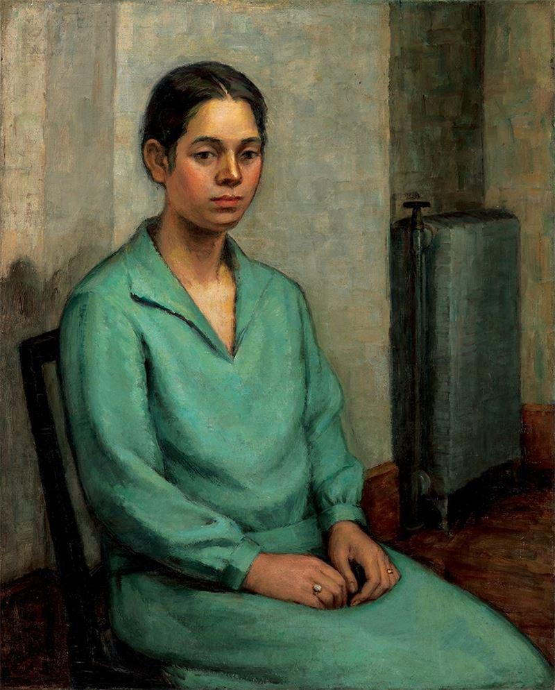 張秋海〈婦人像〉1930  油彩、畫布  91×73 cm