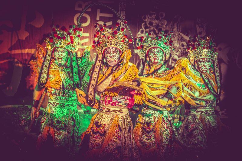 九天民俗技藝團於大臺中藝術場館升級計畫——港區藝術中心演出。