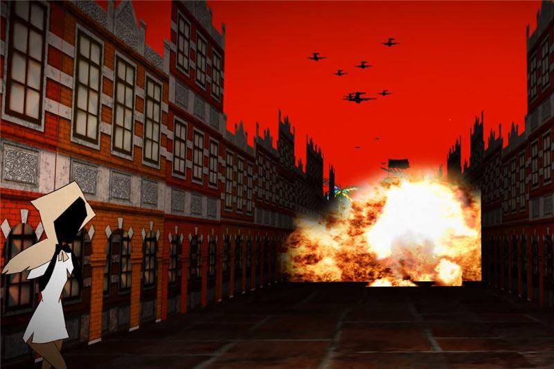 二戰期間的空襲場景