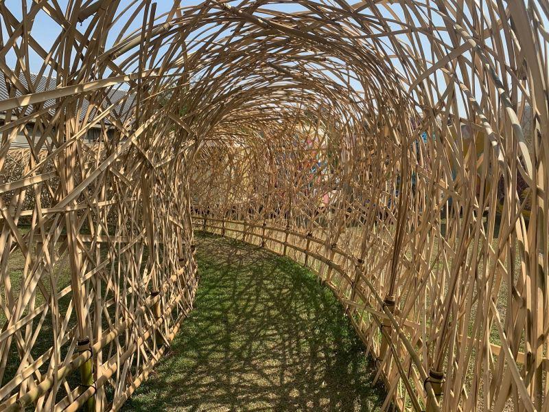 「品.文資」-穿越竹材錯落交織的「幸福廊道」,帶給人們幸福感