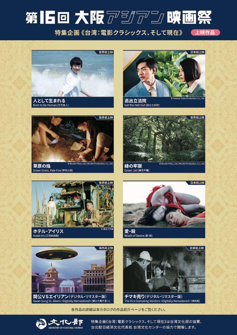 大阪影展提供台灣特集專頁簡介
