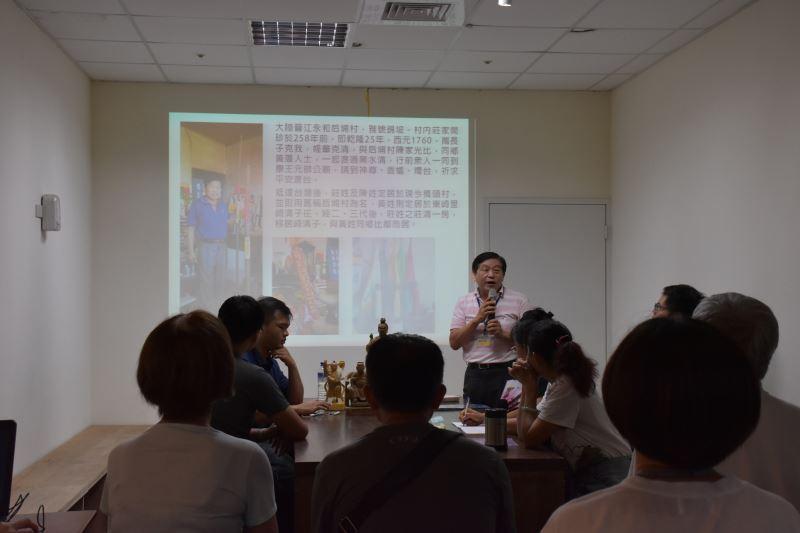 康王元帥廟幹事-莊金泉先生蒞臨現場和大家分享康王元帥的靈感事蹟