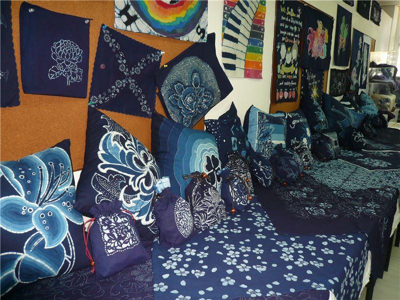 藍染工藝基礎班-藍染學習成果展示