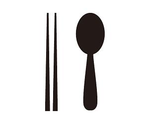 輕食區的符號