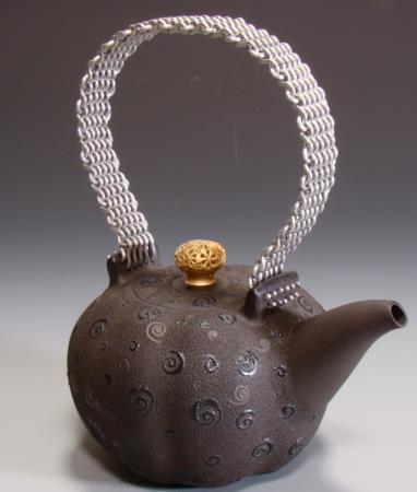 飾紋編織提樑壺