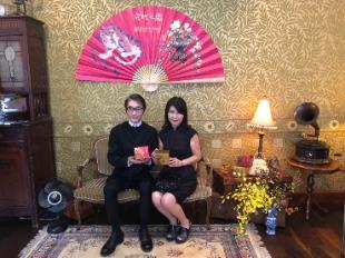 史博館高玉珍副館長與美容教主牛爾共同於產品上市茶會共同推薦合作產品