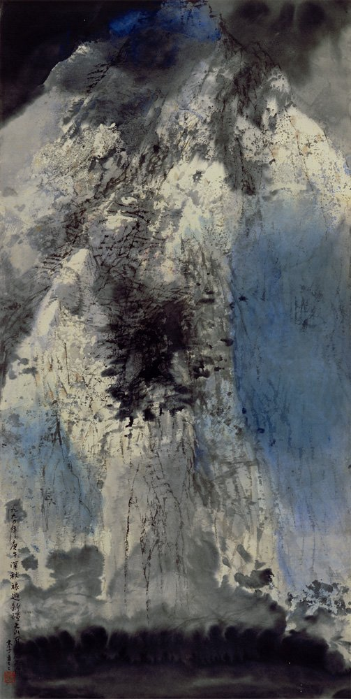 LEE Chung-chung〈Mysteries of the Tienshan Mountain〉1990 Ink, color on paper 125×63.2 cm