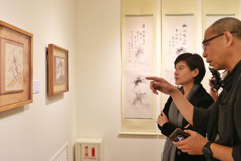文化部長鄭麗君參觀「線條到網絡-陳澄波與他的書畫收藏」展-1