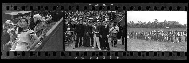鄧南光〈東京時期街頭速寫〉1930年代,原作為底片膠捲數位化,135底片規格(1)c國家攝影文化中心