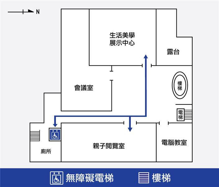 行政活動館二樓平面圖