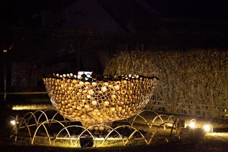 竹編工藝「團圓碗」是由傳統工藝保存者林秀鳳藝師及王耀騰工藝師精心設計製作,象徵圓滿、團圓。