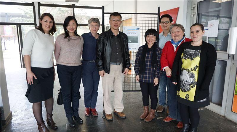 臺灣詩人陳黎在法國蒙彼里埃第三大學進行講座