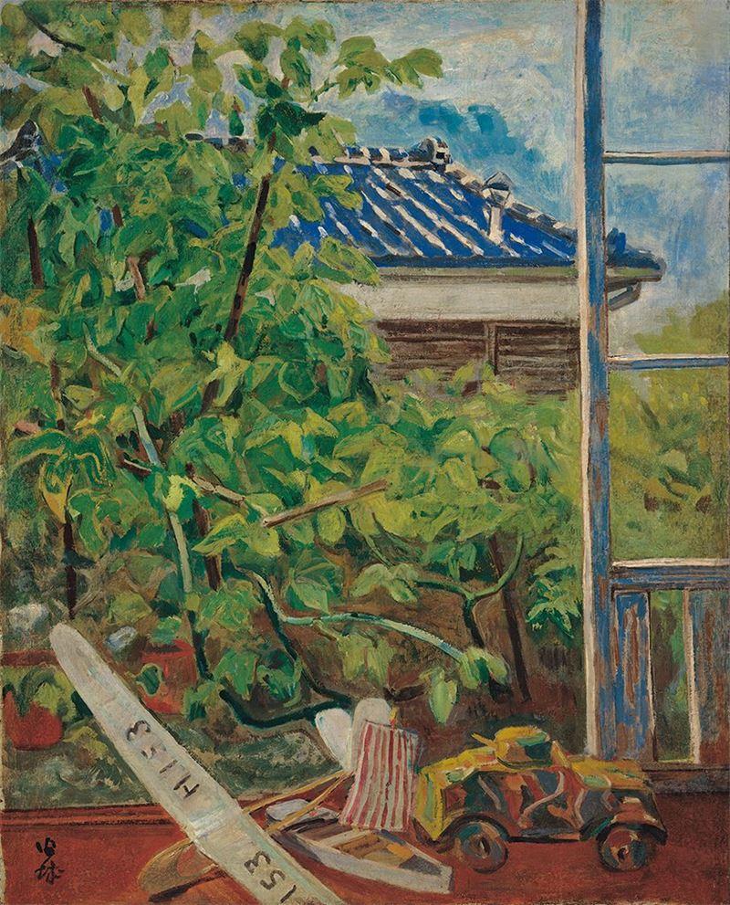 葉火城〈朝〉1943  油彩、畫布  100.7×80 cm