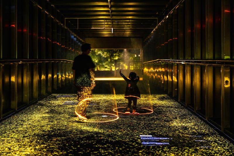國立臺灣美術館「2021臺灣國際光影藝術節」黑川互動媒體藝術(光廊)