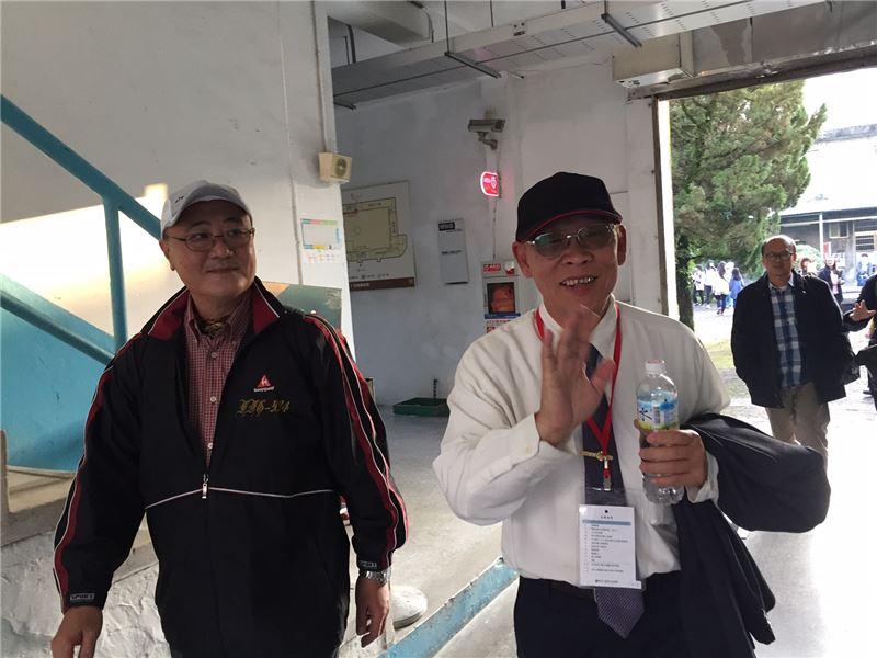 政治受難者前輩陳欽生先生(右)全程出席2017世界人權日活動