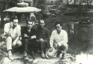 葉陶與楊逵一家人攝於台中公園