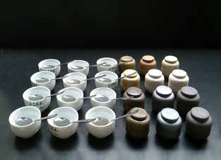 Work completed at a symposium on tea containers