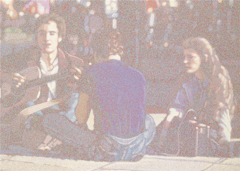 韓湘寧〈華盛頓廣場的音樂〉局部圖
