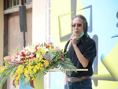 國父紀念館「2020中山青年藝術獎」評審團代表洪根深教授開幕致詞。