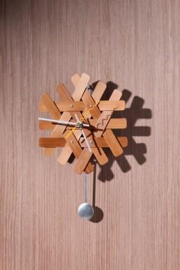 林立偉作品「雪花時計」圖
