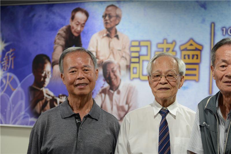 三位本屆國家指定重要傳統藝術保存者合影(左起葉經義、邱火榮、許漢珍)