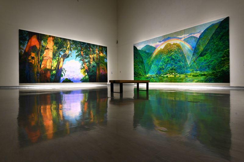 國美館「林惺嶽:大自然奇幻的光影」展場 (1)