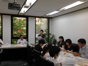 1屆第3次董監事聯席會議-徐秘書長作會務工作報告(右排左立)