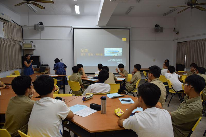 臺南一中專案:透過基礎理論課程,建立對於博物館與博物館專業的基本認識。