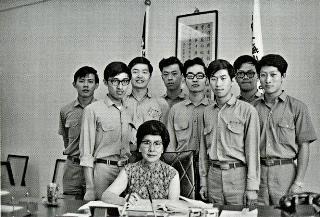吳舜文與新埔的學生