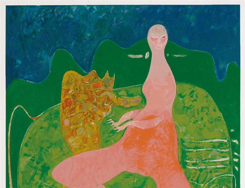 黃銘哲〈綠色的夢〉局部圖