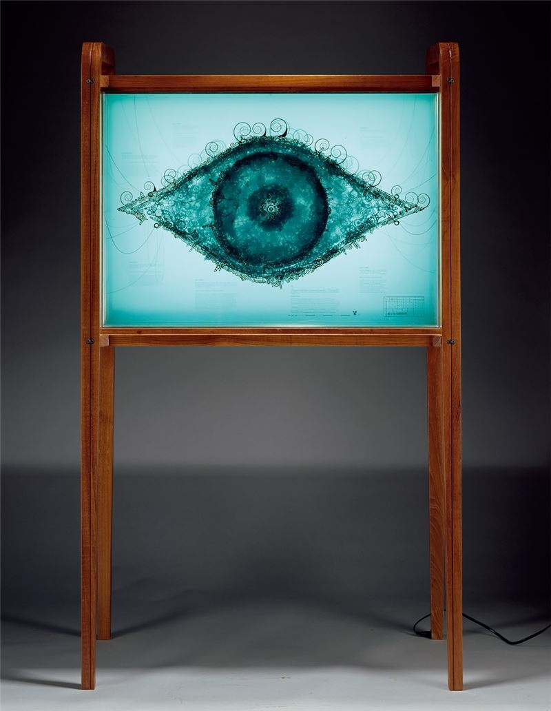 黃心健〈虛空色染 觀無樓〉2007 數位雕塑 171×100×53 cm