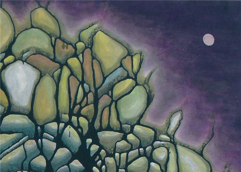 Huang Chau-hu〈Purple Murmurs〉Detail