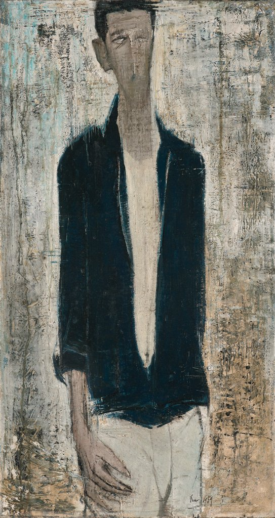 Gu Fu-sheng〈Figure〉1959 Oil on canvas 91×48 cm