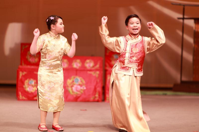 透過相聲表演,小朋友也興起對說唱藝術的興趣。