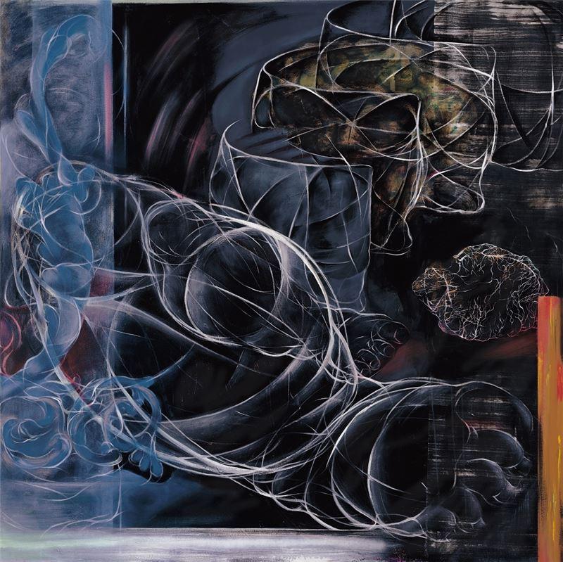 謝鴻均〈剖解〉1999 油彩、畫布 173×173 cm